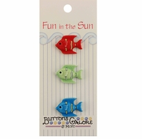Fun In The Sun Buttons Tropical Fish
