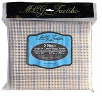 Graph N' Latch Rug Canvas W/Grid 36inX60in 5 Mesh