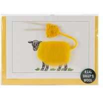 Hand Made Sheep card Color Knitting
