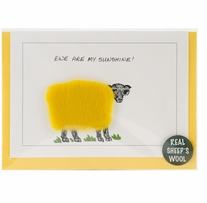 Hand Made Sheep card Ewe Are My Sunshine
