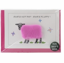 Hand Made Sheep card Ewes Not Fat Ewes Fluffy