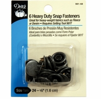 Heavy Duty Snap Fasteners Antique Silver 5/8in 6/Pkg