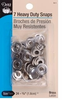 Heavy Duty Snaps 5/8in Nickel 7/Pkg