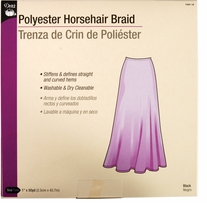 Horsehair Braid Black