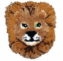 Huggables Lion Pillow Latch Hook Kit 12inx12in