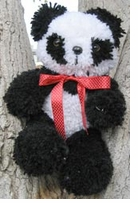 Huggables Panda Stuffed Animal Latch Hook Kit