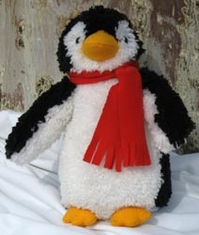 Huggables Penguin Stuffed Animal Latch Hook Kit - Click to enlarge