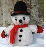 Huggables Snowman Stuffed Toy Latch Hook Kit 16in Tall