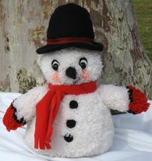 Huggables Snowman Stuffed Toy Latch Hook Kit 16in Tall - Click to enlarge