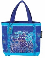 Indigo Cats Mini Bag 11inX3inX8in