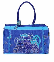 Indigo Cats Travel Bag 21inX8inX14in