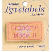Iron-On Lovelabels Grandma Made It 4/Pkg