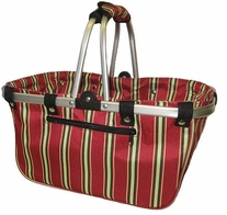 JanetBasket Large Aluminum Frame Bag Red Stripes