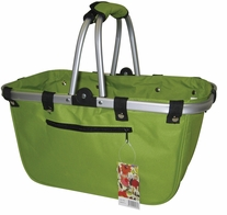 JanetBasket Lime Large Aluminum Frame Bag 18inX10inX9 1/2in