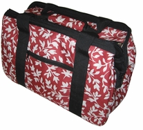 JanetBasket Red Floral Eco Bag 18inX10inX12in