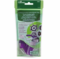 Jumbo Wonder Clips Knitting & Crochet 12/Pkg