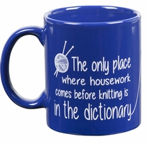 Knit Happy Blue Mug Dictionary