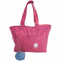 Knit Happy Bright Bags Pink