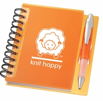 Knit Happy Idea Notebook Orange 6.25inx5.75in