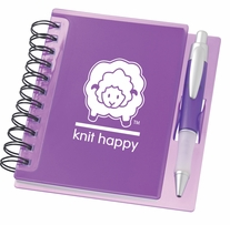 Knit Happy Idea Notebook Purple 6.25inx5.75in