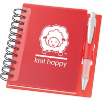 Knit Happy Idea Notebook Red 6.25inx5.75in