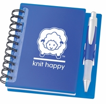 Knit Happy Idea Notebook Sapphire 6.25inx5.75in