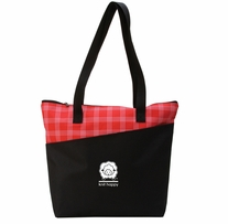 Knit Happy Mad For Plaid Tote Red 18inx15inx5in
