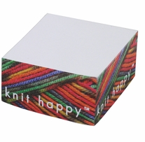 Knit Happy Paper Cube Yarn Lovers 3.375inx3.375in