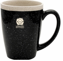 Knit Happy Retreat Mug Black 16oz