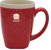 Knit Happy Retreat Mug Red 16oz
