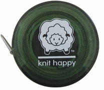 Knit Happy Tape Measure Green