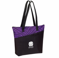 Knit Happy Zzzzebra Tote Purple 18inx15inx5in