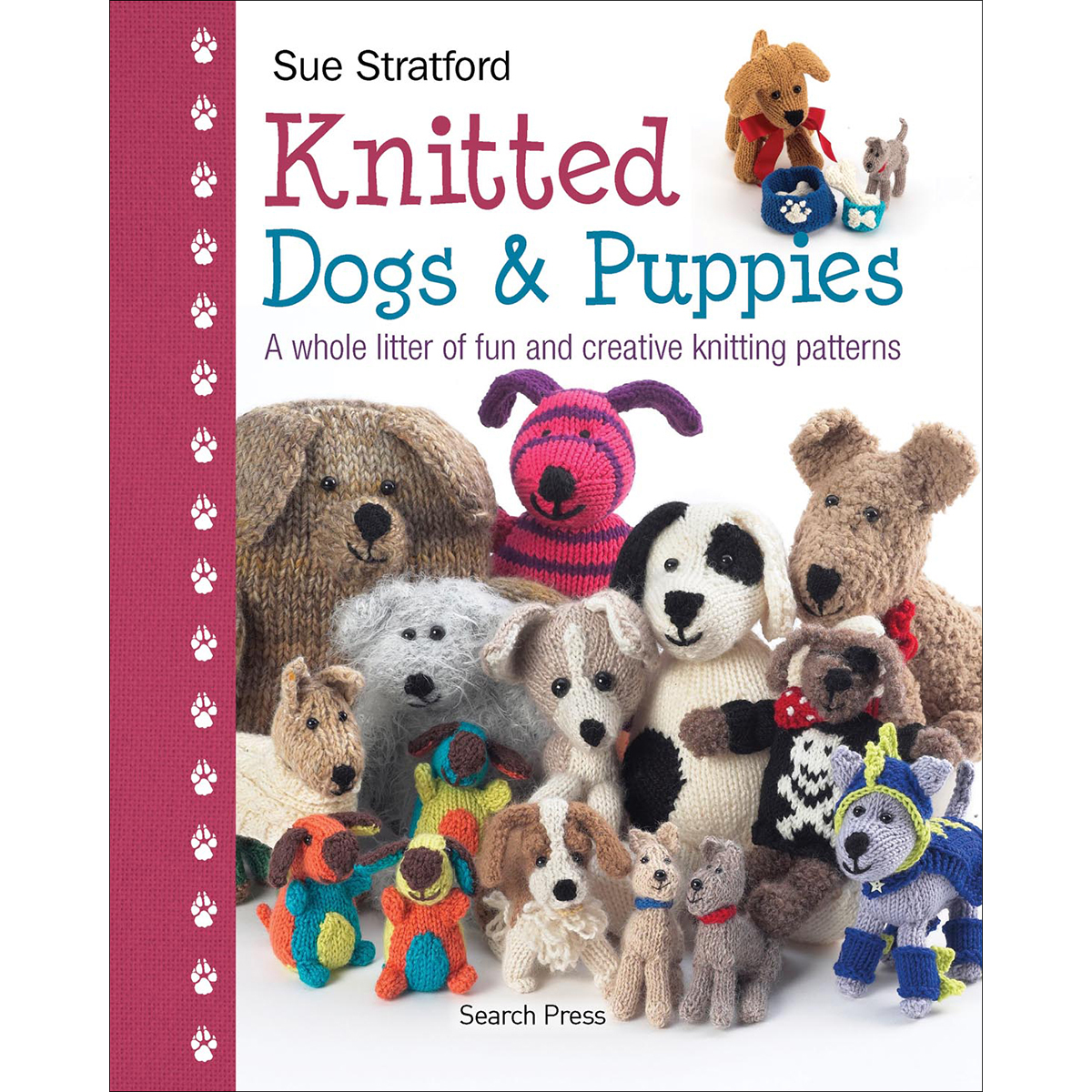 Knitting Patterns For Dogs Book : Knitted Dogs & Puppies
