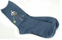 Knitting Girl Socks Denim