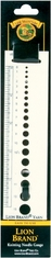Knitting Needle Gauge - Click to enlarge