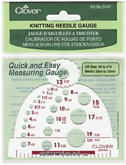 Knitting Needle Gauge Measures Sizes 0 19 - Click to enlarge