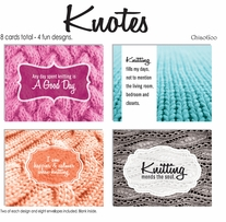 Knitting Note Card Set 8/pkg Knotes