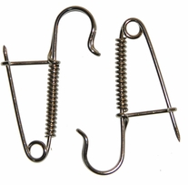 Knitting Pin Pair Silver