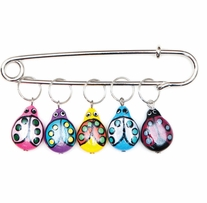Lady Bugs Stitch Markers Sizes 0 To 10 5/pkg
