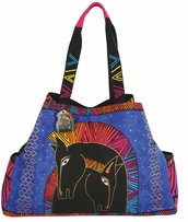Large Gap Tote Snap Closure Embracing Horses