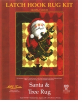 Latch Hook Kit 28inx36in Santa & Tree
