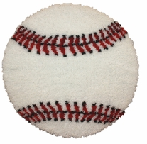 Latch Hook Kit Baseball 26in Round