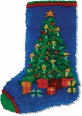 Latch Hook Kit Christmas Tree Stocking - Click to enlarge