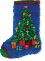 Latch Hook Kit Christmas Tree Stocking