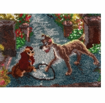 Latch Hook Kit Lady And The Tramp 27inx20in