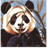Latch Hook Kit Peeking Panda 27inx27in