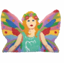 Latch Hook Kit Shaped Pastel Fairy 33.75inx24in