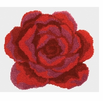 Latch Hook Kit Shaped Red Rose 31inx27in