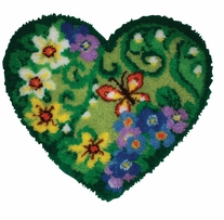Latch Hook Kit Shaped Spring Floral Heart 30inx27in