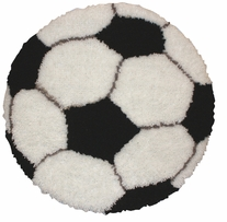 Latch Hook Kit Soccer Ball 26in Round